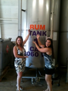 Barbi and Ginger at distillery Sept 2012