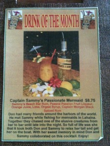 DRINK OF THE MONTH MAUI