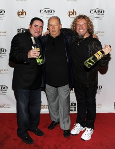 Emeril, Robin, Sammy at Vegas Rum Launch