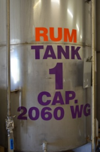 Finished Rum Holding Tank