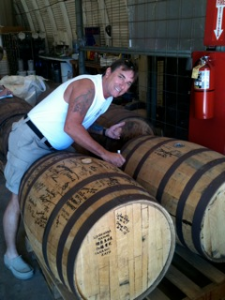 Kevin from Indiana signing barrel